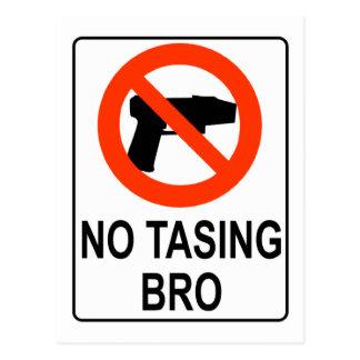 No Tasing Sign Postcard