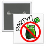 No Tea Party Anti Tea Party Buttons