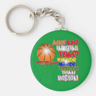 No Team Bigger Badder Better Than Boston (celtics) Basic Round Button Key Ring