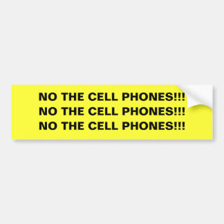 NO THE CELL PHONES!!! sticker