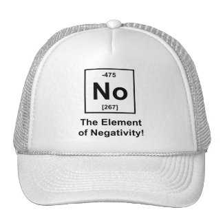 No, The Element of Negativity Mesh Hats