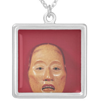 No theatre mask silver plated necklace