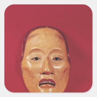 No theatre mask square sticker