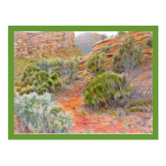 No Thoroughfare Canyon Colored Pencil Drawing Postcards