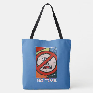 No Time - Blue - Time Pieces Tote Bag