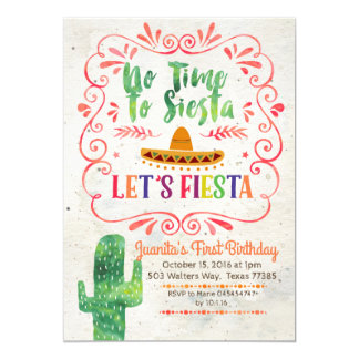 No Time to Siesta, Let's Fiesta Invitation