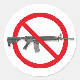 No To Assault Weapons - Gun Control Sticker