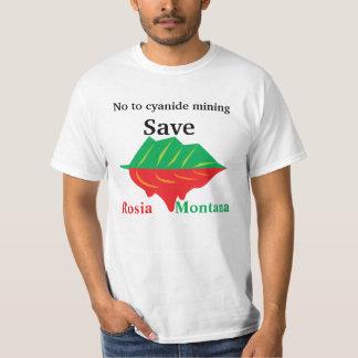 No to cyanide mining Save Rosia Montana T-Shirt