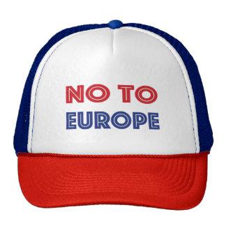 No to Europe Cap