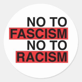 No to Fascism No to Racism Sticker
