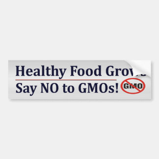 No To GMOs Bumper Sticker