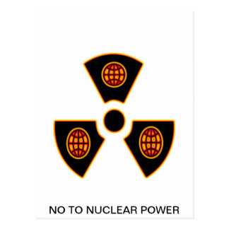 """""""No To Nuclear""""* Postcard"""