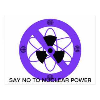 """""""NO TO NUCLEAR POWER""""* POSTCARD"""