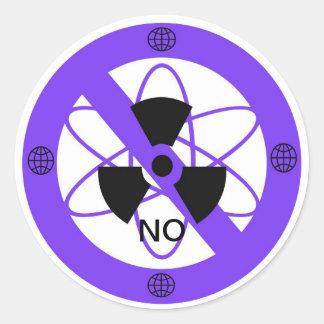 """NO TO NUCLEAR POWER""* ROUND STICKER"