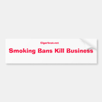 No to smoking ban bumper sticker