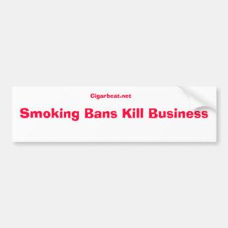 No to smoking ban bumper sticker