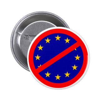 No to the EU 6 Cm Round Badge