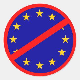 No to the EU Round Sticker