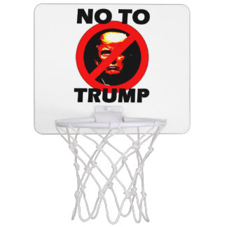 No To Trump - Basketball Hoop