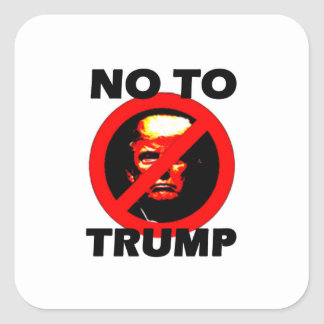 No To Trump - Sticker