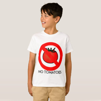 No Tomatoes T-Shirt, Kids T-Shirt