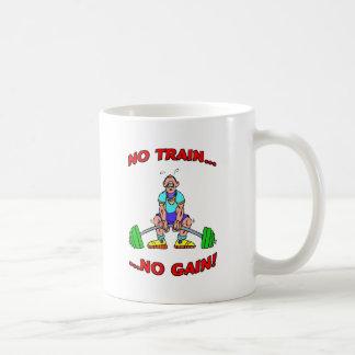 No Train No Gain! Basic White Mug