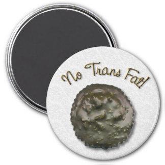 No Trans Fat Coconut 7.5 Cm Round Magnet