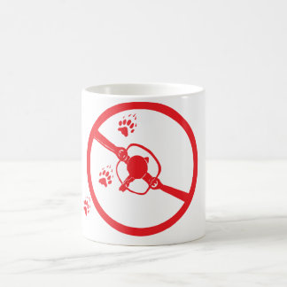 No trapping. basic white mug