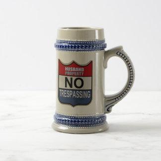 NO TRESPASSING - HUSBAND BEER STEINS