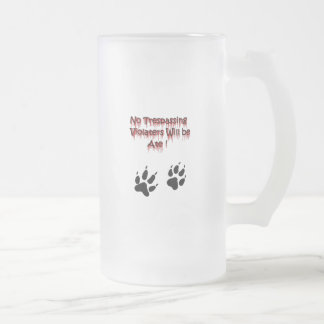 No Trespassing Violaters Will be Ate! Coffee Mugs