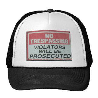 No tresspassing trucker hat