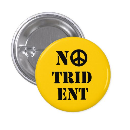 No Trident Scottish Independence Badge Pinback Button