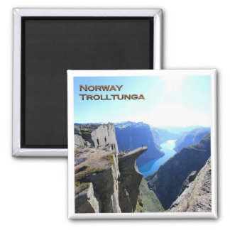 NO # Trolltunga - Panorama Magnet