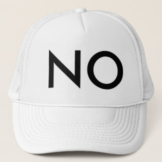 NO TRUCKER HAT