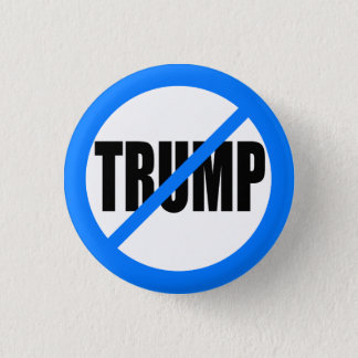 'NO TRUMP' 1.25-inch 3 Cm Round Badge