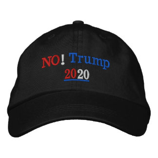 No! Trump 2020 Embroidered Hat