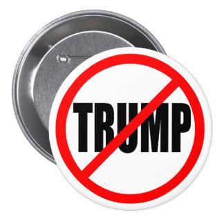 'NO TRUMP' 3-inch 7.5 Cm Round Badge