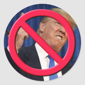 No Trump Classic Round Sticker