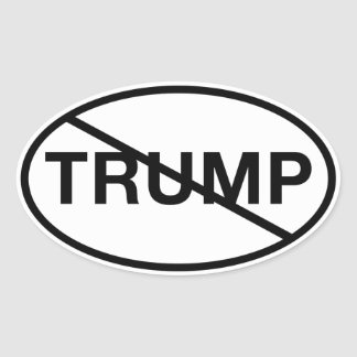 No Trump Oval Sticker