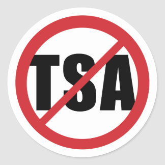 No TSA Classic Round Sticker