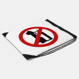 NO Tuk-Tuk TAXI ⚠ Thai Road Sign ⚠ Drawstring Bag