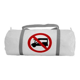 NO Tuk-Tuk TAXI ⚠ Thai Road Sign ⚠ Gym Bag