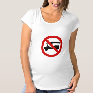 NO Tuk-Tuk TAXI ⚠ Thai Road Sign ⚠ Maternity T-Shirt
