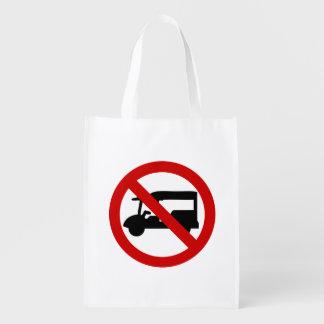 NO Tuk-Tuk TAXI ⚠ Thai Road Sign ⚠ Reusable Grocery Bag