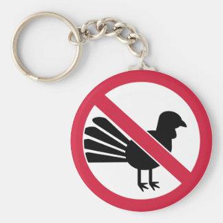 No turkey thanksgiving keychain