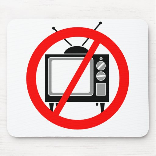NO TV - television/propaganda/brainwashing/media Mousepads