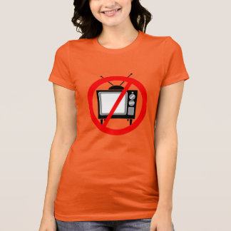 NO TV - television/propaganda/brainwashing/media T-Shirt