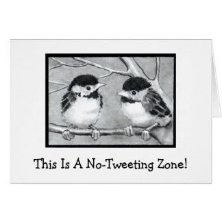 NO-TWEETING ZONE: BABY BIRDS: PENCIL ART CARD