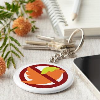 No Tweets Basic Round Button Key Ring