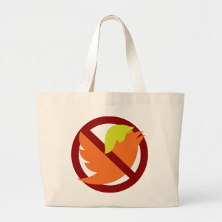 No Tweets Large Tote Bag